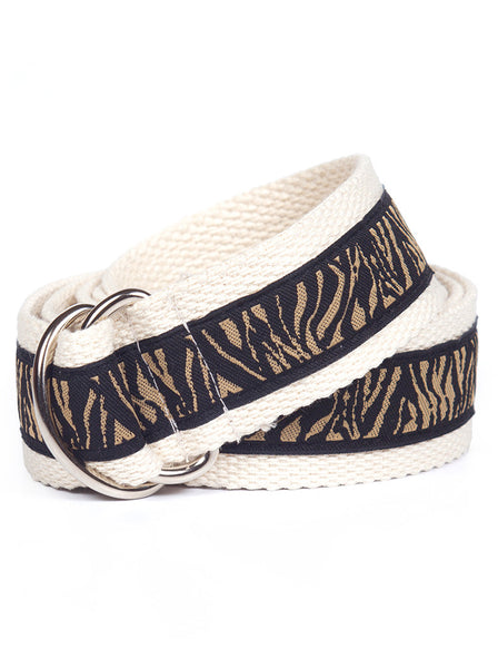 D-Ring Belt Animal Print