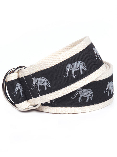 D-Ring Belt Grey Elephant