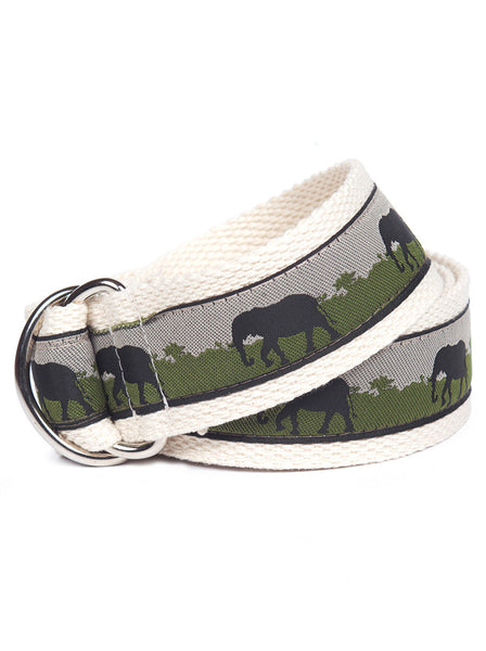 D-Ring Belt Elephants
