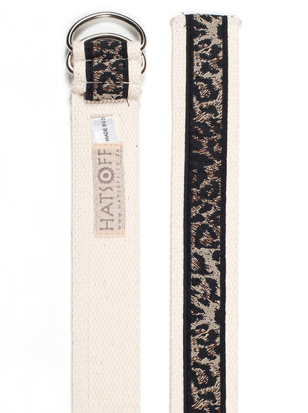 D-Ring Belt Leopard Print