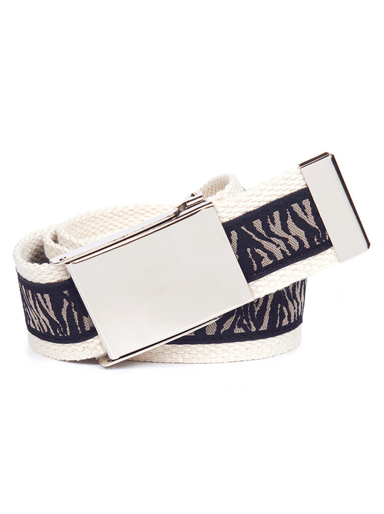 Buckle Belt Zebra Print