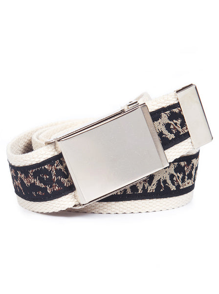 Buckle Belt Leopard Print