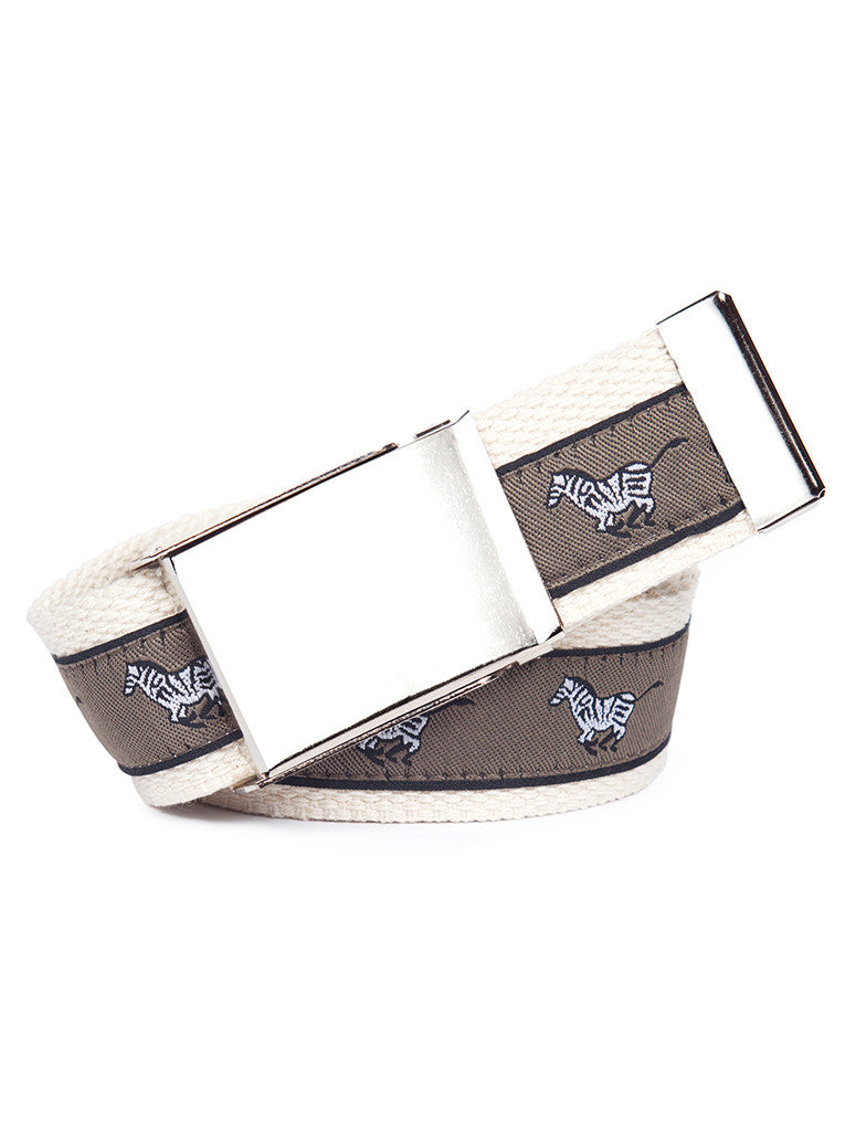Buckle Belt Galloping Zebra