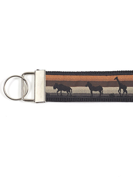 Wristlet Key Fob - Animal Silhouettes