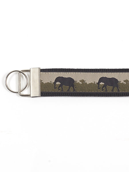 Wristlet Key Fob - Elephants