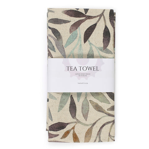 TEA TOWEL - LEAF