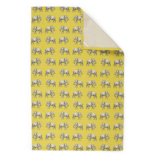 TEA TOWEL - YELLOW ELEPHANT