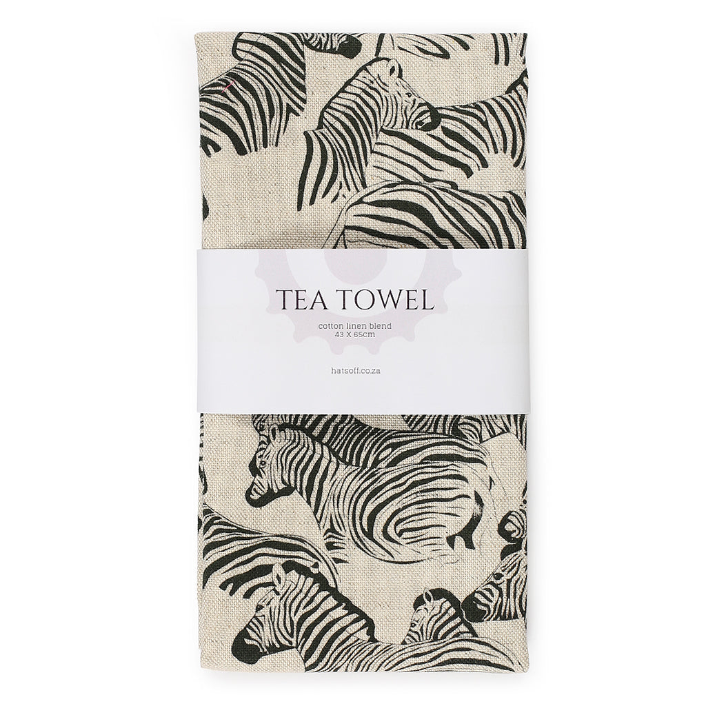 TEA TOWEL - ZEBRA