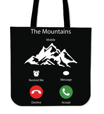 The Mountains Tote Bag B