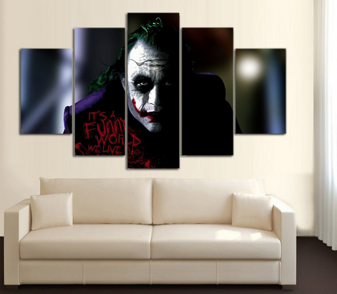 HD Printed Joker Batman 3 5 Piece Canvas
