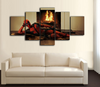 HD Printed DeadPool Laying 5 Piece Canvas