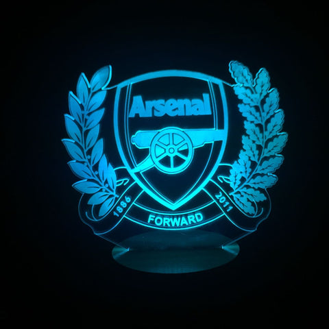 3D FC Arsenal Led Desk Lamp Flash Changing Colour