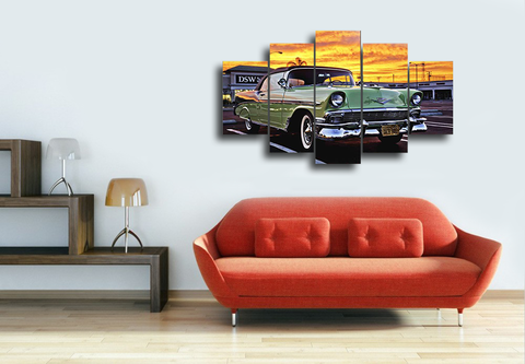 Hd Printed Chevrolet Retro Avtomobil Canvas