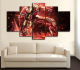 HD Printed Iron Man 5 Piece Canvas