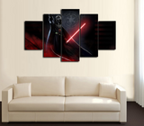 HD Printed Star Wars - Darth Vader Lightsaber 5 Piece Canvas