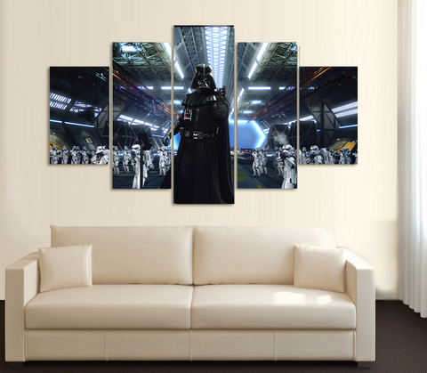 HD Printed Star Wars - Darth Vader 3 5 Piece Canvas