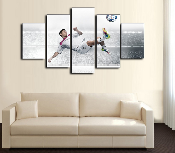 HD Printed Football Messi 5 Piece Canvas