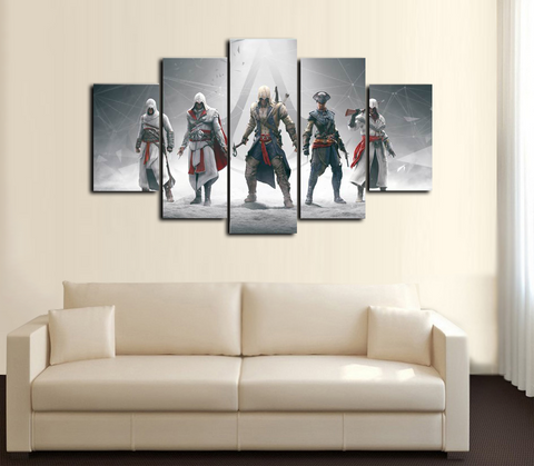 HD Printed Assassins Creed group of 5 5 Piece Canvas