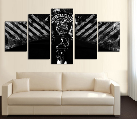 HD Printed Sons of Anarchy 5 Piece Canvas