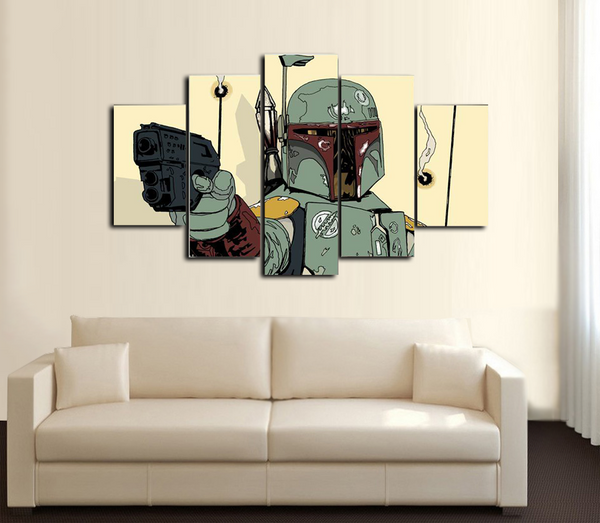 HD Printed Star Wars Art Comics 5 Piece Canvas