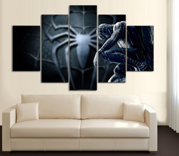 HD Printed Spider Man 5 Piece Canvas