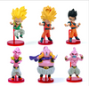 Dragon Ball Z - Goku Super Saiyan Majin Buu Figure 6 Piece/ a Lot