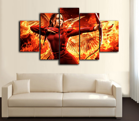 HD Printed Hunger Game 5 Piece Canvas
