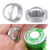 1pc Stainless Steel Finger Ring Bottle Opener Ring-Shape Beer Bottle Opener for Beer Cola Bottle
