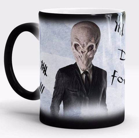 Doctor Who Dr Who morphing coffee mugs heat changing color Hot Reactive sensitive porcelain Black White Ceramic Tea Cups cup mug