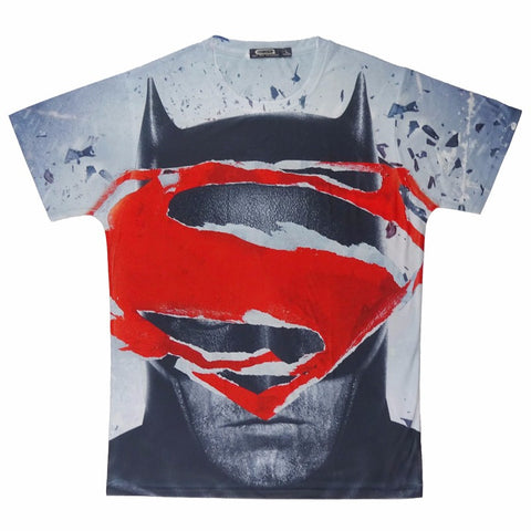 Men Superman Vs Batman T Shirt Dawn Of Justice Tee Tops