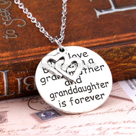 2015 Fashion Family Friendship Necklace Double Hollow Heart Pendant Gift The Love Between Grandma and Granddaughter For Women
