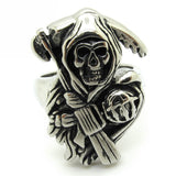 Gothic Men's Sons of Anarchy 316L Stainless Steel Punk Biker Finger Ring Jewelry Gift