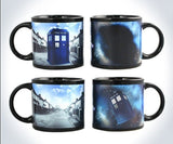 Doctor Dr.Who Heat Reveal Mug Color Change Coffee Cup Sensitive Ceramic Chameleon Magical Mug Novelty Gifts 1pc