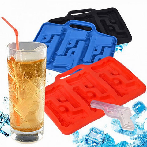 Party Drink Ice Tray Cool Pistol Gun Ice Cube Style Ice Mold Ice Maker Mould ZH641