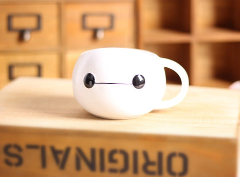 Cute Baymax Painted Cup mugs for tea coffee and milk