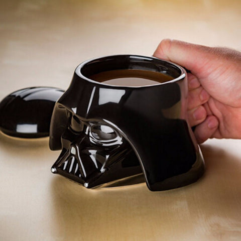 Creative Black White 3D Ceramic Cup Mug Star Wars Porcelain Drinking Mug for Coffee Water Novelty Drinkware Gift