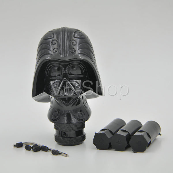 Black Star Wars Darth Vader Universal Car Truck Manual Gear Stick Shift Shifter Lever Knob With 3 Sizes Rubber Sleeve