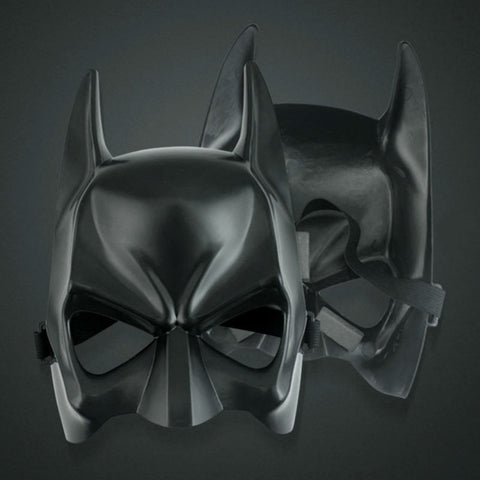 Black plastic Masks cosplay Batman upper half Face Masks for Halloween, birthday party,graduate part