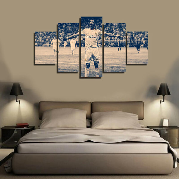 HD Printed Cristiano Ronaldo 2014 Celebration 5 Pieces Canvas