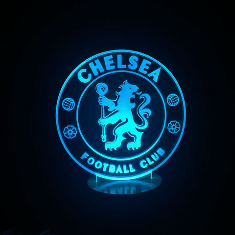 3D FC Chelsea Led Desk Lamp Flash Changing Colour