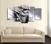 HD Printed Star Wars - StormTrooper Face Art 5 Piece Canvas
