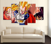 HD Printed Dragon Ball Z - Vegeta 5 Piece Canvas