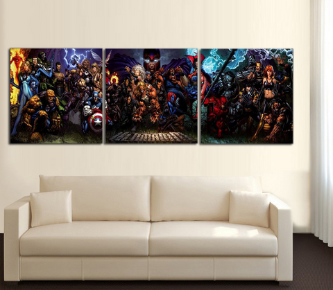 HD Printed HEROES 3 Piece Canvas