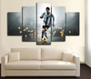 HD Printed Lionel Messi 5 Piece Canvas