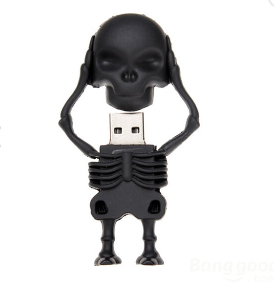 New Cartoon Black Skull usb 2.0 memory flash stick pen drive