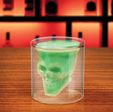2016 Creative Designer Skull Head Shot Glass Crystal Pirate Double Glass Whiskey Drinking Skull Cup