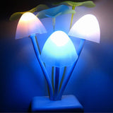 Romantic Colorful Sensor LED Mushroom Night Light Wall Lamp Home Decor Briloom