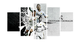 HD Printed Cristiano Ronaldo 5 Pieces Canvas