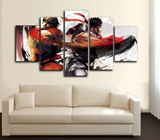 HD Printed Street Fighter - Ryu and Ken 5 Piece Canvas