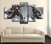 HD Printed Iron Man vs Hulk 5 Piece Canvas